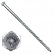 25 Schlüsselschraube - Sechskant-Holzschrauben - 12x280 mm - DIN 571 - verzinkt
