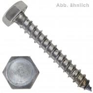 50 Schlüsselschrauben 10 x 120 mm - DIN 571 - blank