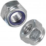 100 Sechskantmuttern mit Klemmteil - M12 - DIN 6924 - galv. Verzinkt
