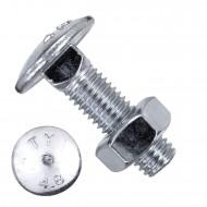 100 Schlossschrauben DIN 603 - M10 x 35mm - galvanisch verzinkt - inkl. Mutter