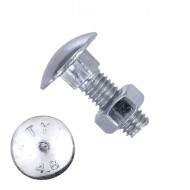 100 Schlossschrauben DIN 603 - M5 x 16mm - galvanisch verzinkt - inkl. Mutter