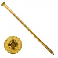 25 Senkkopf Spanplattenschrauben gelb verzinkt PZ Teilgewinde 6x140
