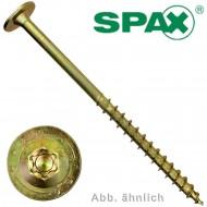 50 Spax Holzbauschrauben 8 x 80 mm - Tellerkopf - TX40 - galvanisch verzinkt
