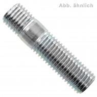 100 Stiftschrauben DIN 938 5.8 verzinkt M8 x 40 mm