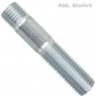 50 Stiftschrauben M8 x 25 mm - DIN 938 - verzinkt 8.8