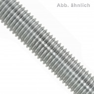 1 Gewindestange M12 x 1000 mm - 4.6 verzinkt , Dickschicht passiviert - DIN 976