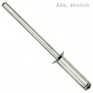 500 Blindnieten Stahl verzinkt  - 4 x 6 mm - Senkkopf - DIN 7337
