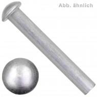 1000 Halbrundnieten Aluminium 5 x 12 mm