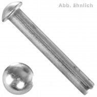 200 Halbrundnieten 5x20 mm - Edelstahl A2 - DIN 660