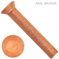 1000 Senknieten DIN 661 Kupfer 2,5 x 10 mm