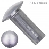 1000 Linsennieten 3 x 6 mm - DIN 662 - Aluminium 99.5