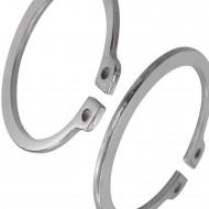 100 Sicherungsringe 17 x 1 mm - für Wellen - DIN 471 - Edelstahl 1.4122
