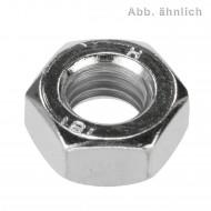 100 Sechskantmuttern M4 - SW7 - Stahl 8.0 - DIN 934