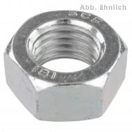 100 Sechskantmuttern M10 - SW17 - niedrige Form - Stahl 22H - DIN 936