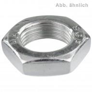 50 Sechskantmuttern niedrige Form M24 - DIN 936 - 1,5 mm Feingewinde - verzinkt