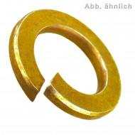 1000 Federringe DIN 127 Form B Federstahl galvanisch verzinkt gelb für M10