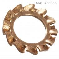 100 Fächerscheiben für M4 - DIN 6798 - Form A - Bronze