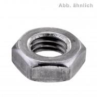 100 Sechskantmuttern M16 - niedrige Form, mit Fase - SW24 - blank - DIN 936