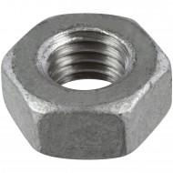 100 Sechskantmuttern M10 - SW17 - Stahl 8.0 feuerverzinkt - DIN 934