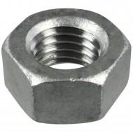 50 Sechskantmuttern M18 - SW27 - Stahl 8.0 feuerverzinkt - DIN 934