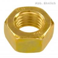 100 Sechskantmuttern M8 - SW13 - Stahl 8.0 gelb verzinkt - DIN 934