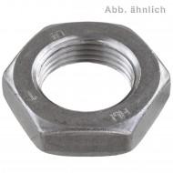 50 Sechskantmuttern M20 - Links-Fein 1,5mm - niedrige Form - Stahl 14H - DIN 936