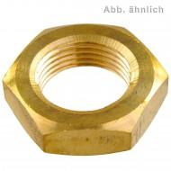 50 Sechskantmuttern Mf14 - Feingew. 1,5mm - niedr. Form - Messing - DIN 936