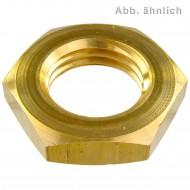 50 Sechskantmuttern DIN 936 niedrige Form Messing M14