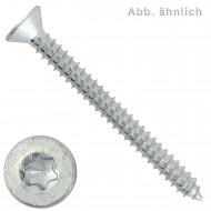 1000 Blechschrauben DIN 7982 - 4,2x13 mm - Senkkopf - Torx - galv. verzinkt