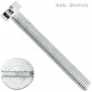 200 Zylinderschrauben M2,5 x 5 mm - Schlitz - verzinkt - DIN 84