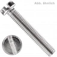 200 Zylinderschrauben mit Schlitz DIN 84 Messing  vernickelt M4 x 12 mm