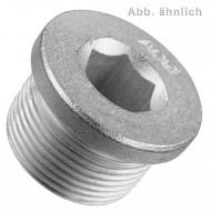 25 Verschlussschrauben DIN 908 zylindrisches Feingewinde verzinkt M24 x 1,5 mm