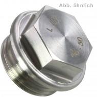 1 Verschlussschraube M18 x 1,5mm - DIN 7604 Form A - Edelstahl A4