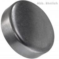 100 Verschlussdeckel zum Eindrücken 12 mm - DIN 443 - blank