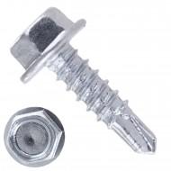 100 Bohrschrauben Form K DIN 7504 mit Sechskant verzinkt 5,5x100