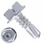1000 Bohrschrauben Form K DIN 7504 mit Sechskant galvanisch verzinkt 4,8x13