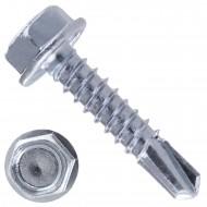 1000 Bohrschrauben Form K DIN 7504 mit Sechskant galvanisch verzinkt 4,8x22
