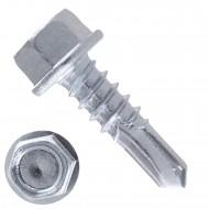 500 Bohrschrauben Form K DIN 7504 mit Sechskant verzinkt 5,5x19