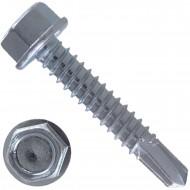 250 Bohrschrauben Form K DIN 7504 mit Sechskant galvanisch verzinkt 6,3x32