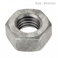 100 Sechskantmuttern M10 - SW17 - Stahl 10.0 galv. verzinkt - DIN 934