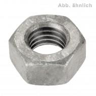 100 Sechskantmuttern M12 - Feingew. 1,5mm - SW19 - 10.0 galv. verzinkt - DIN 934