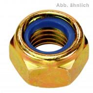 1000 Sicherungsmuttern DIN 985 Festigkeitsklasse 6-8 gelb verzinkt für M3