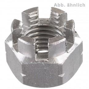 1 Kronenmutter M16 - DIN 935-1 - Edelstahl A2