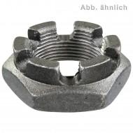 1 Kronenmutter niedrige Form M33 - DIN 937 - 15 mm Feingewinde - blank