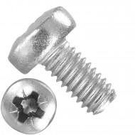 1000 Linsenschrauben M2,5 x 5mm - DIN 7985 - PZ - Edelstahl A2