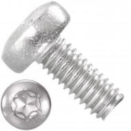 1000 Linsenschrauben M2,5 x 6 mm - DIN 7985 - TX8 - Edelstahl A4