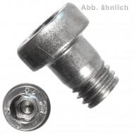 200 Innensechskantschrauben, niedriger Kopf - 4 mm x 25 mm - DIN 6912 - A4