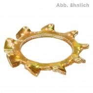 500 Zahnscheiben ähnl. DIN 6797 Federstahl Form A gelb verzinkt für M5