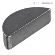 100 Scheibenfedern 3 mm x 3,7 mm - DIN 6888 - Stahl - C45+C
