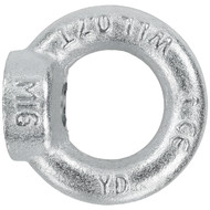 10 Ringmuttern DIN 582 - M16 - C15E Stahl - galvanisch verzinkt
